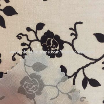 China Beautiful design flocking fabric
