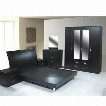 S008 Bedroom Set with MDF Furniture Bed and Dressing Table | Global ...