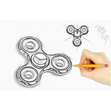 China Spinning fidget toys fidget spinner LED hand spinner with light finger spinner