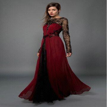 E0820 Fashion Off Shoulder Long Sleeves Ladies Evening Dresses ...
