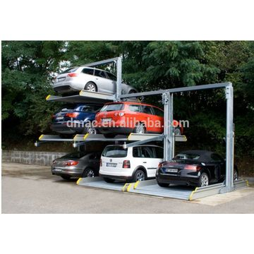 3 level mechanical car lift parking system outdoor car lift parking