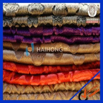 100 Polyester Burnout Embossed Velvet Upholstery Curtain Fabric