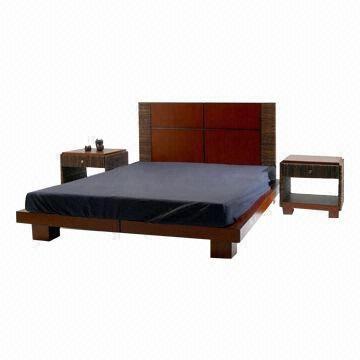 philippines bed frame with mahogany bodyheadboard and manila hemp measures 66 x 82 - Mahogany Bed Frame