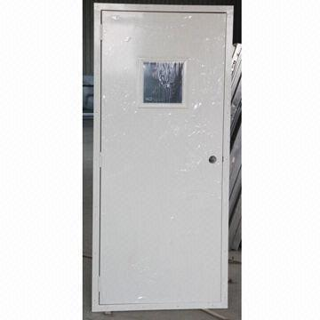 Metal Clad Door with View Glass/Vision Panel Specially Used for Portable Buildings