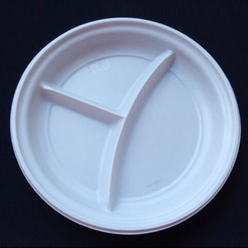 Disposable Plastic Plate China Disposable Plastic Plate & Disposable Plastic Plate With Small Partitions PS Material 9-inch ...