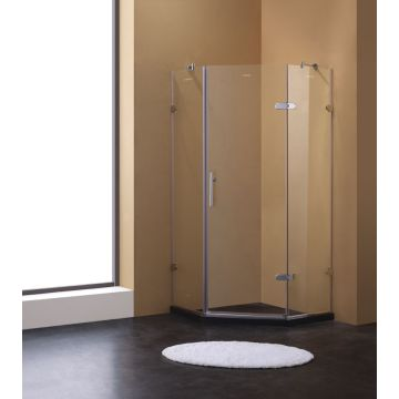 Free Standing Diamond-shape Glass Shower Enclosure,Simple Shower ...