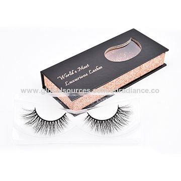 c7124925178 China Wholesale Hand Made Black Band Mink 3D Lashes with Package Box ...