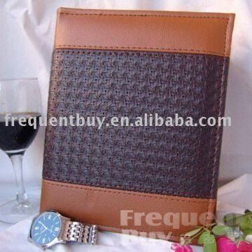 new professional brown brown woved pu leather cover photo