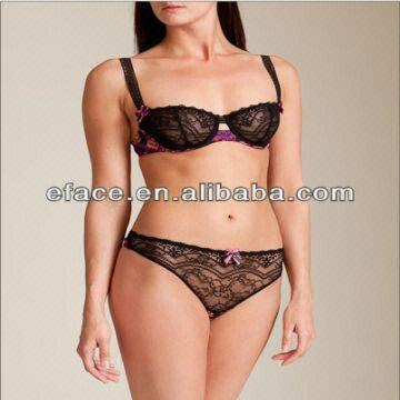 60feafcbc50 China Hot High Quality Sexy Ladies Lace Bra and Panty Underwear Set