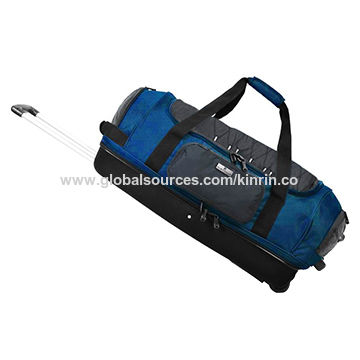 China Large Capacity Rolling Duffel Bags Doule Decker Function