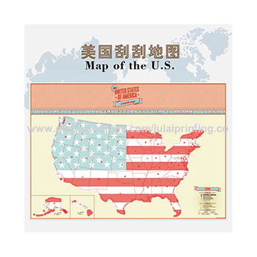 China Wall Scratch Off Map Of The Us Scratch Off World Map On - Scratch-us-map