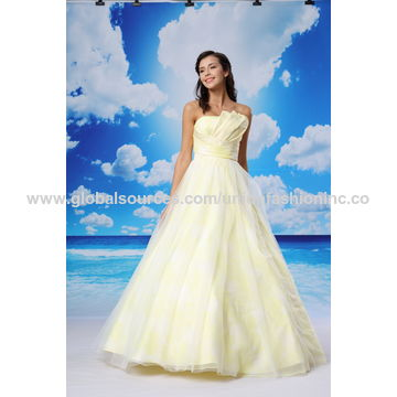 China Sleeveless satin princess wedding dress from Zhongshan ...