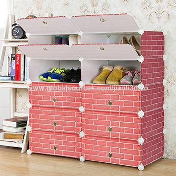 2016 modern design modular cube storage system closed shoe rack ...