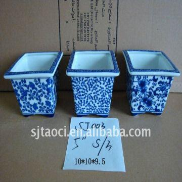 Blue and white flower pots images flower decoration ideas blue and white porcelain square flower pot global sources china blue and white porcelain square flower mightylinksfo