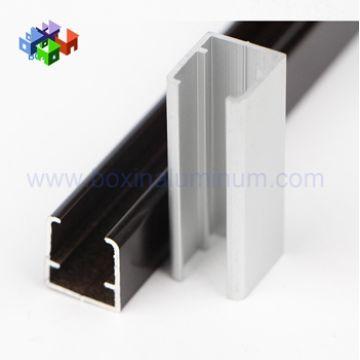 6063 T5 Aluminum u channel railing / glass railing u profile