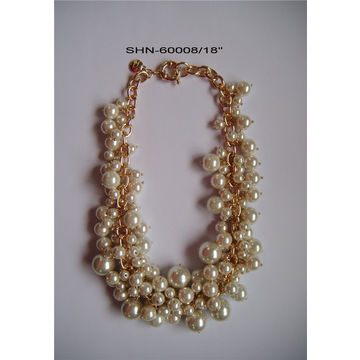 China Gold plated with pearl setting imitation fashion jewelry