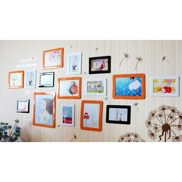 Crystal magnetic picture frame for refrigerator for different photo ...