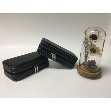 China Good quality PU watch storage cases with double zipper, OEM order is welcome