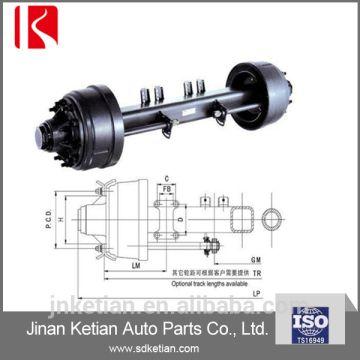 Axle - Semi trailer axles 1 rear axle brake: S420*180 2