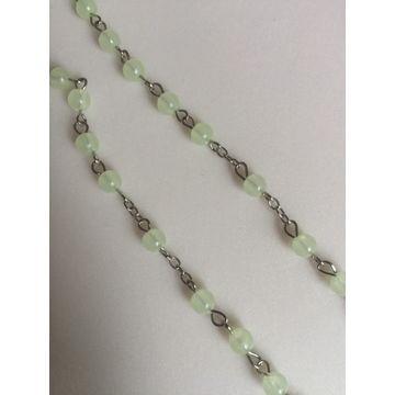 China Luminous plastic bead rosary, epoxy saint necklace religious jewelry