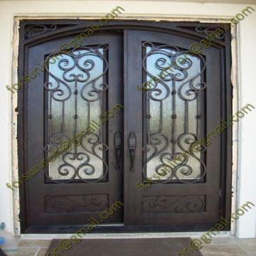 Wrought Iron Door Iron Front Dooriron Entry Door 1 Sand Blast 2