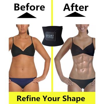 23b553329a4 GIRL MELODY Waist Trimmer for Men   Women Premium Stomach Wrap Slim Sweat  Sport Belt Waist Trainer