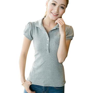 Ladies cotton latest design polo shirt China Ladies cotton latest design polo  shirt 84ac96f0f