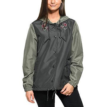 China High quality custom women's coaches jacket nylon printed