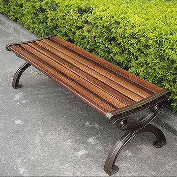 Terrific Outdoor Furniture Wooden Garden Bench Cast Aluminum Legs For Uwap Interior Chair Design Uwaporg