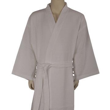 China 100% cotton waffle fabric shawl collar bathrobe from Hangzhou ... f6d6370cb