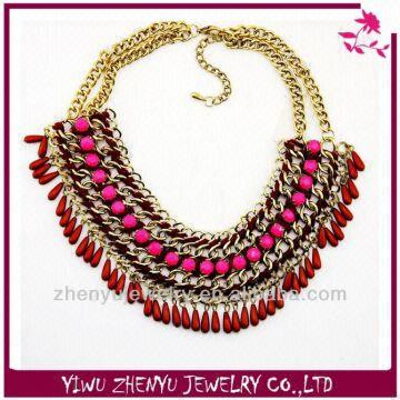 570c1382779 China India Fashion Jewelry Wholesale Jewelry Imports Plastic Bead Chain  Designs Necklace