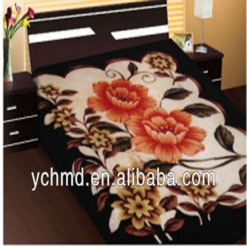 d9a82243ac ... China 100% Polyester Raschel Mink Weft Korean Style Blanket