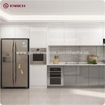 Modern high gloss acrylic board german kitchen cabinet ...