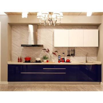 China 2 Pac High Gloss Blue Lacquer Kitchen Cabinets From Quanzhou