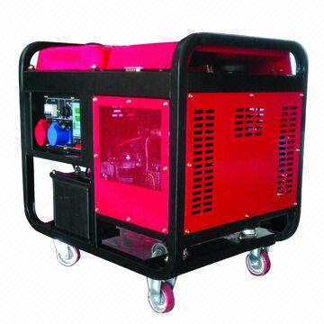 10kW air-cooled power generator, 25L fuel tank capacity