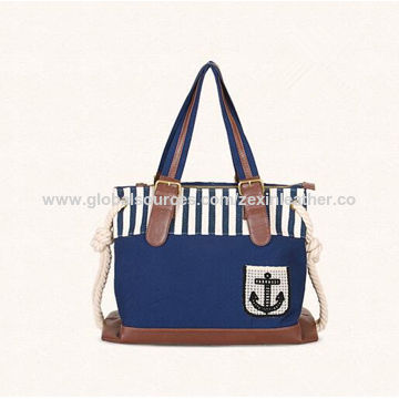 China European Hot sell the latest design canvas ladies handbags on ... 13f16f0b94881