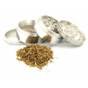 India Aluminium tobacco grinder 4 parts herb tobacco grinder