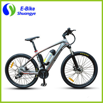 China New model carbon fiber frame 26-inch mountain electric bicycle