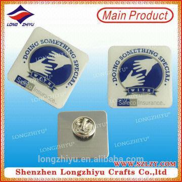 Printed resin badge automatic badge making machine printed