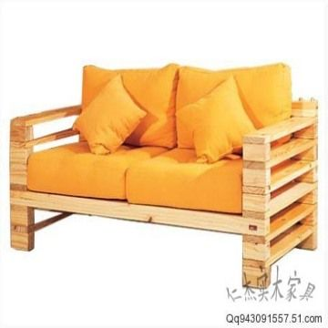 China Solid Wood Pine Wood Sofa Living Room Furniture Part 60