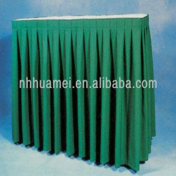 Material China Polyester Table Skirting 1.Material