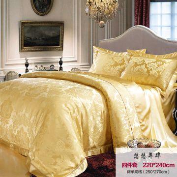 ... China 100% Jacquard Silk Bedding Set