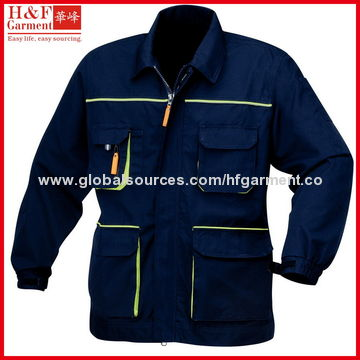 China Work clothes made of T/C twill in khaki and navy, multi pockets, various size, colors, custom logo