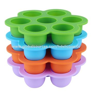 China New 7 Balls Silicone Ice Mold with Cap