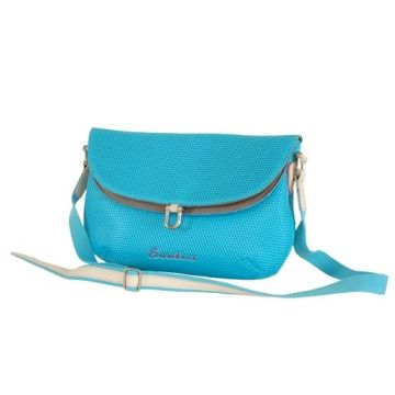Ladies leather/airmesh combo sling bag | Global Sources