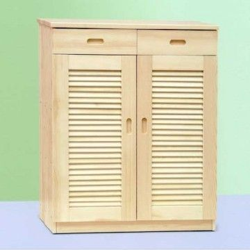 China Solid Wood Pine Wood Shoe Cabinet Living Room Furniture