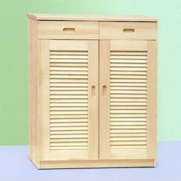 Solid Wood Pine Shoe Cabinet Living Room Furniture