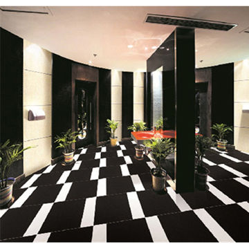 Zimbabwe Black Granite Floor Tiles Deep Color High Quality