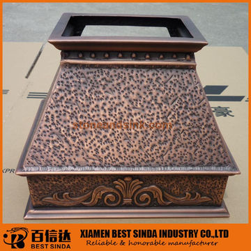 Hammered Copper Range Hood China