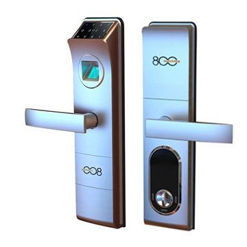 Touch screen fingerprint door lock, suitable for wood door, metal ...